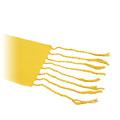 Detall del serell de la bufanda groga