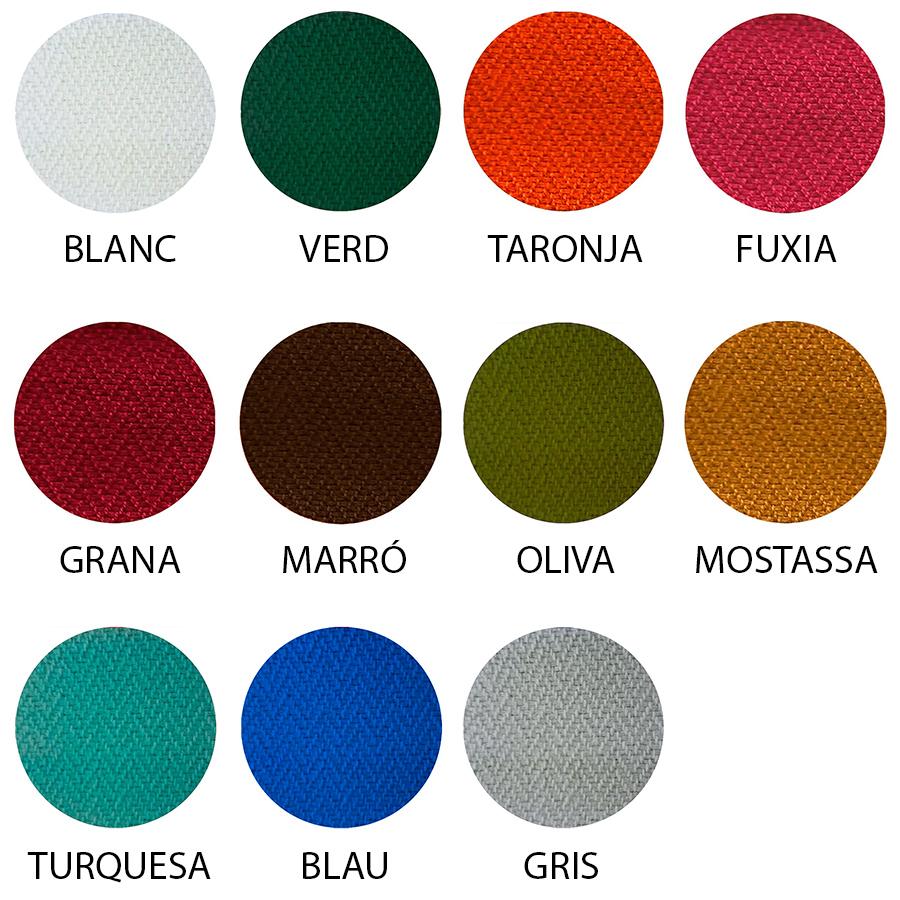 Mostra de diferents colors per a faixes