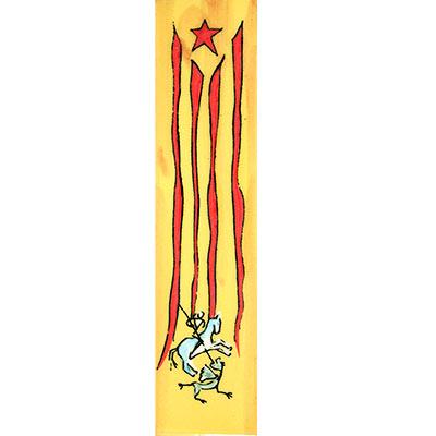Imant amb estelada i St. Jordi