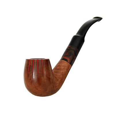 Pipa de fumar corbada amb 4 barres (senyera)