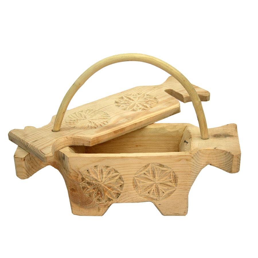Saler de pastor amb la tapa oberta