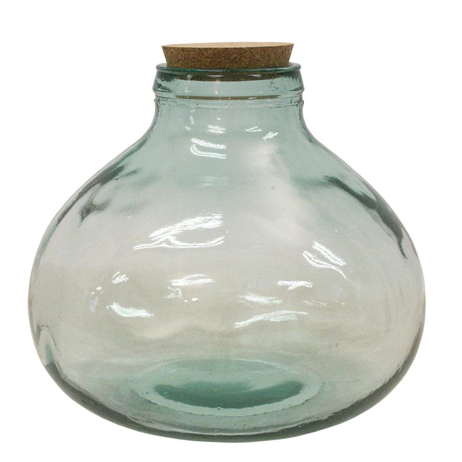 Ampolla de vidre amb broc ample