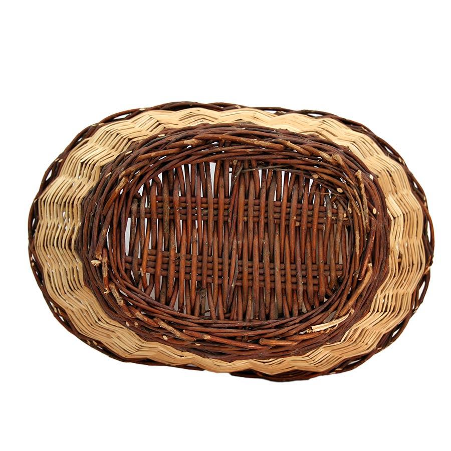 Cistella de vímet vista de sota